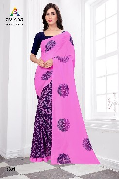 Casual Wear Georgette Saree With Blouse